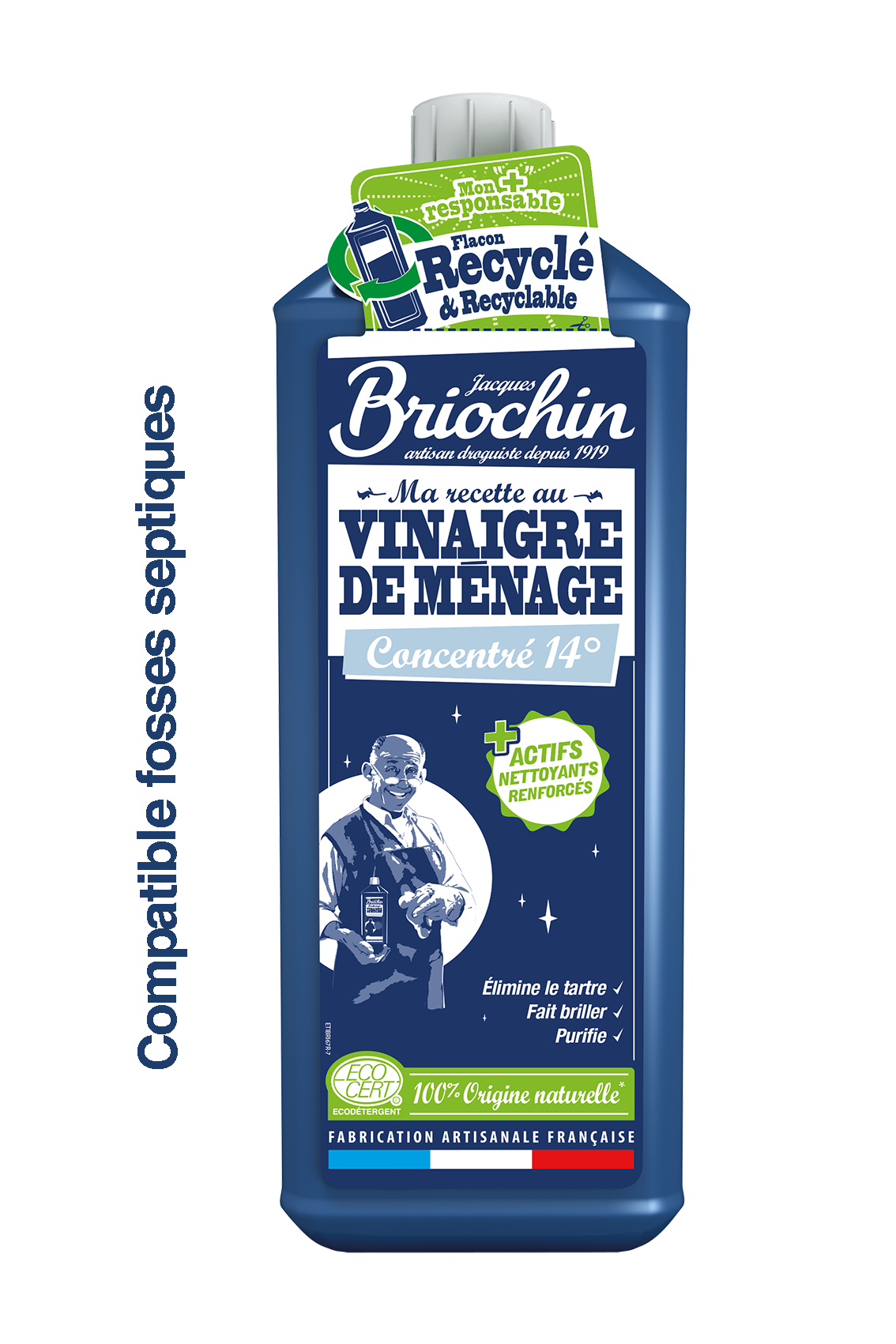 Vinaigre Menager Forte Concentration 14 Jacques Briochin